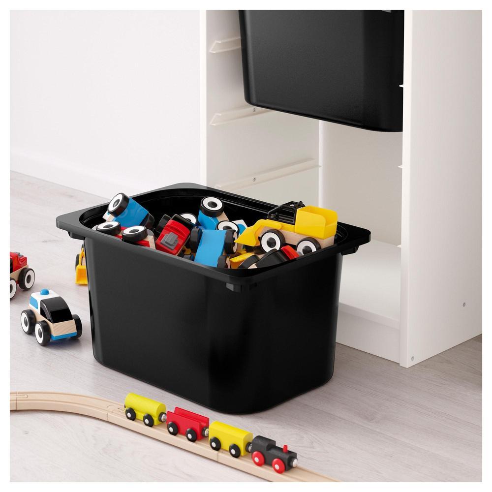 trufast kombination d storage beh lter wei schwarz bewertungen preis. Black Bedroom Furniture Sets. Home Design Ideas