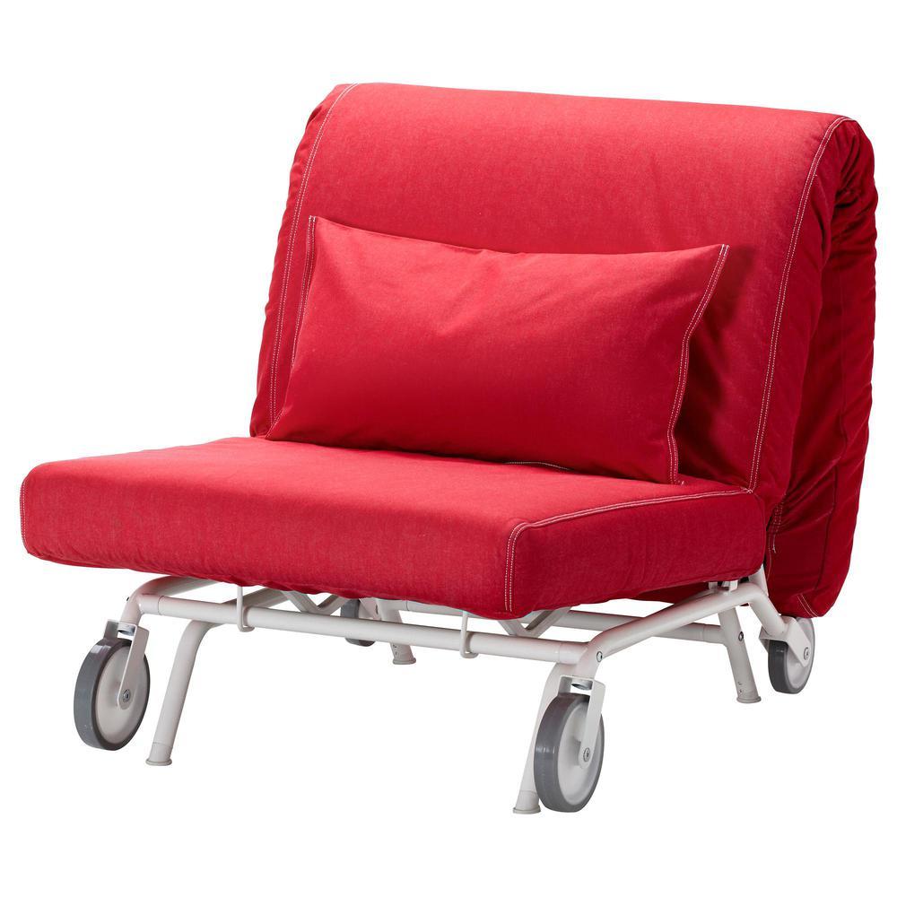 IKEA PS HOVET Sillón cama Vansta rojo, rojo Vansta