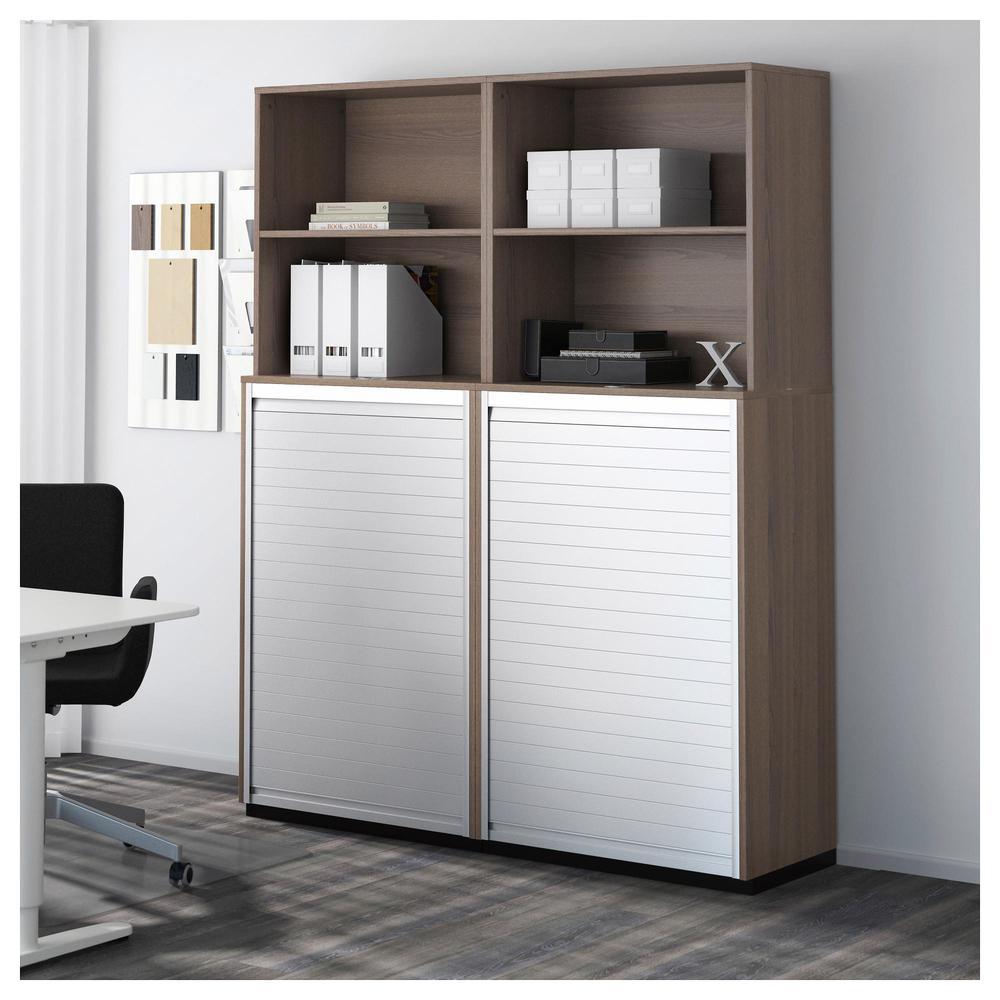 Türvorhang Ikea galant kombination d store mit türjalousie grau 990 465 32