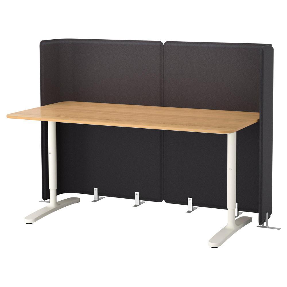 Бекант стол для приемной - дубовый шпон/белый - 30 999 руб..