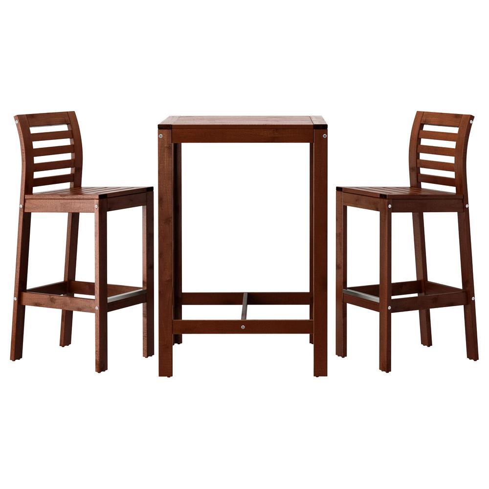 Eplaro bar tisch und 2 barhocker for Bar und barhocker
