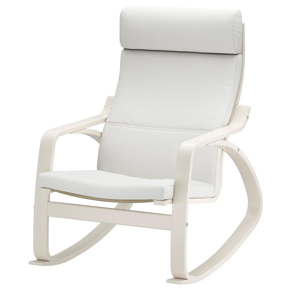 Ikea Sedia A Dondolo.Poang Sedia A Dondolo Finnsta White Finnsta White