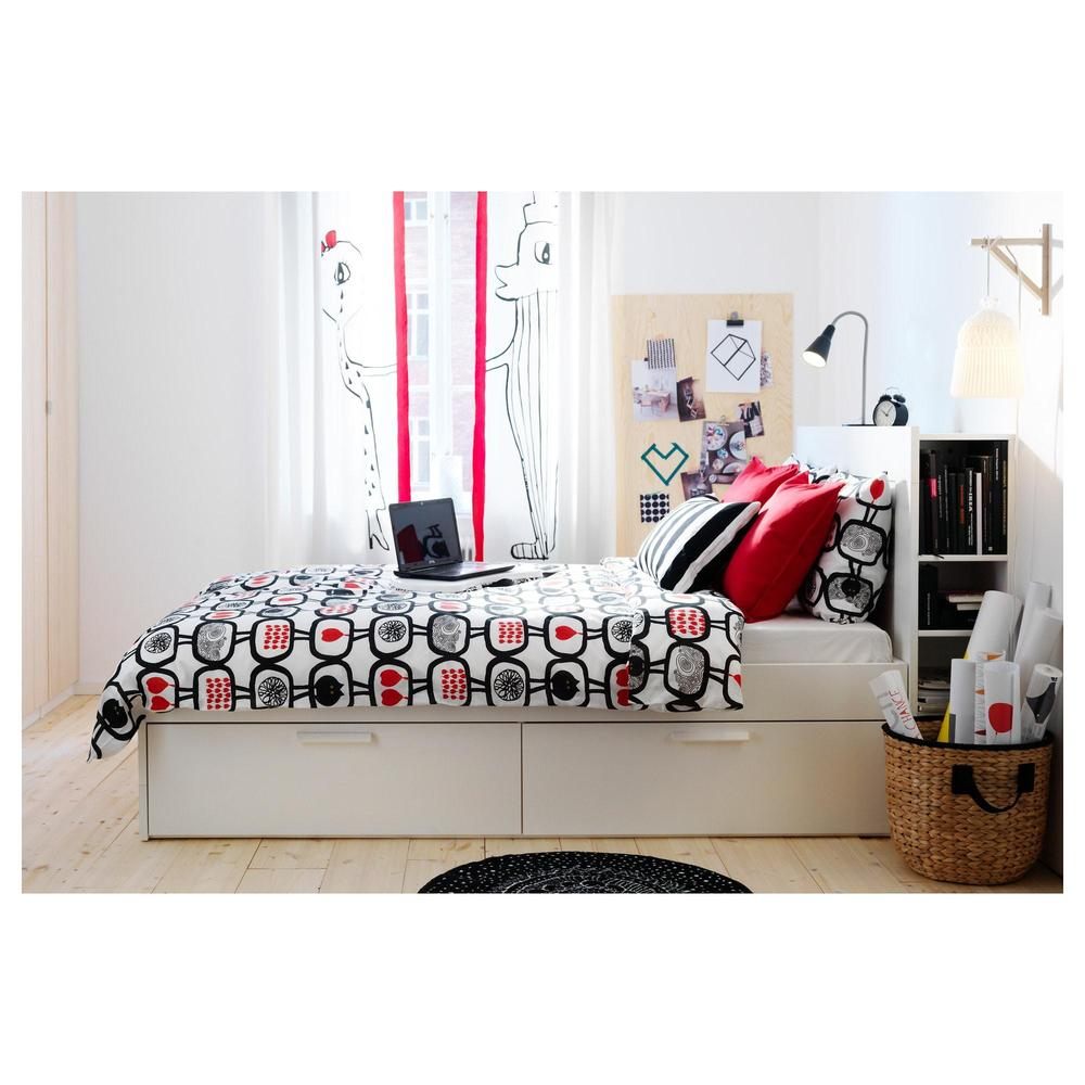 Captivating BRIMNES Bed Frame With Headboard   140x200 Cm Lonset