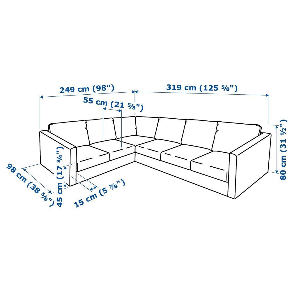 fec5da59fd25 ВИМЛЕ 5-местный угловой диван - Фарста черный (992.114.52) - отзывы ...