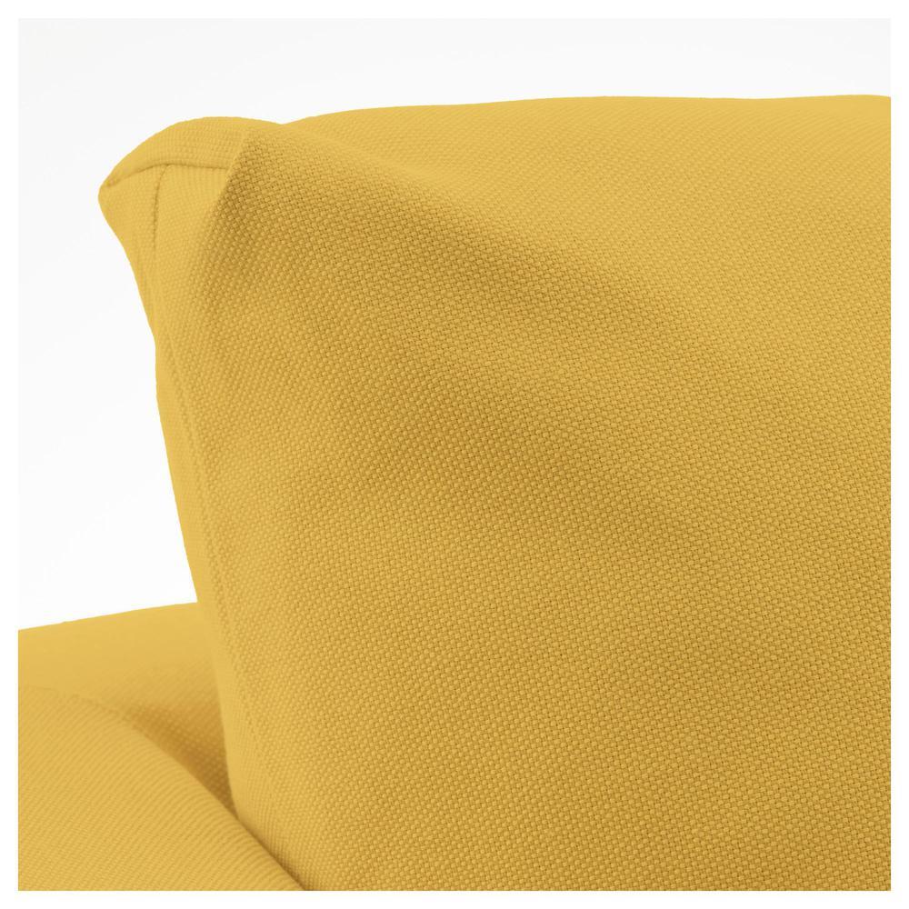 KORPK Lenestol Orresta gylden gul, hvit (992.217.62