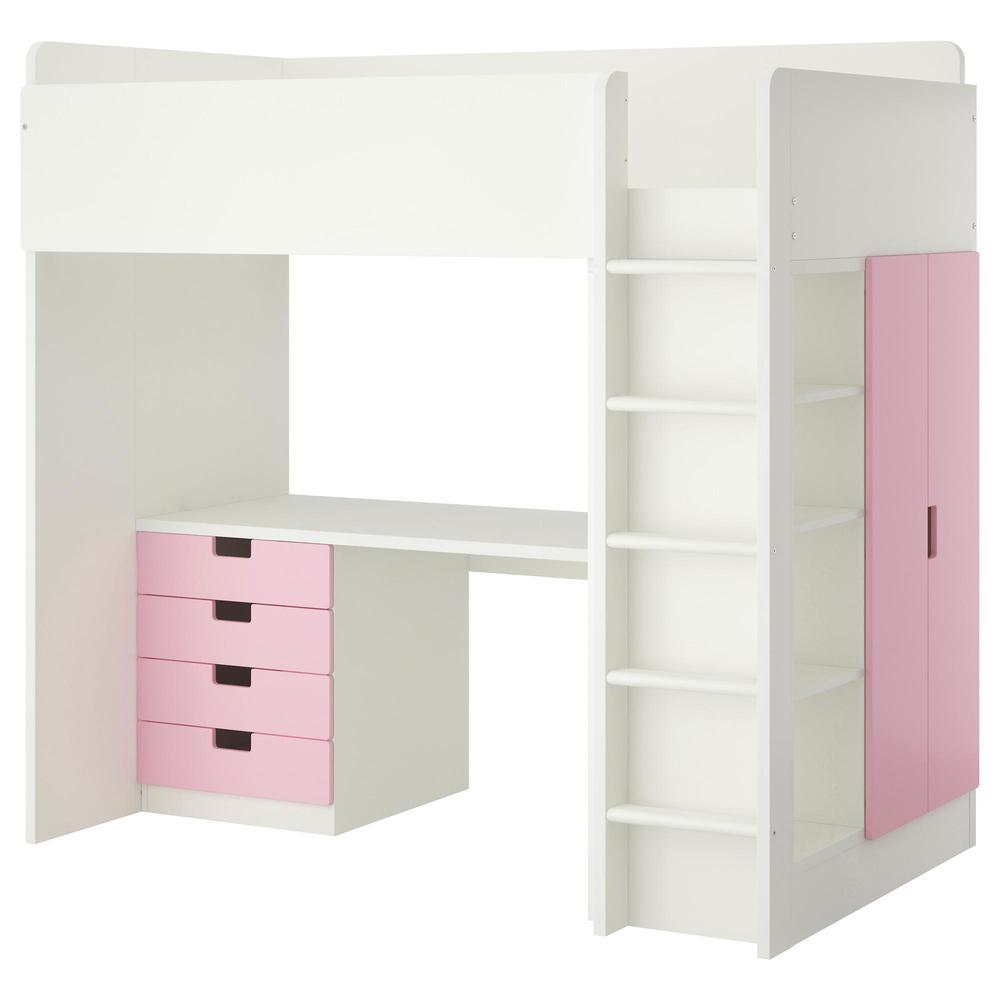 STUVA Cama-ático / 4 cajón / 2 puertas - blanco / rosa (992.271.94 ...