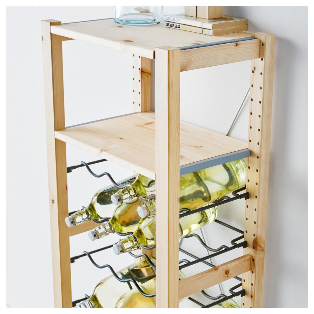 Ikea Scaffali Legno Ivar ivar 1 sezione / mensole / scaffali per bottiglie