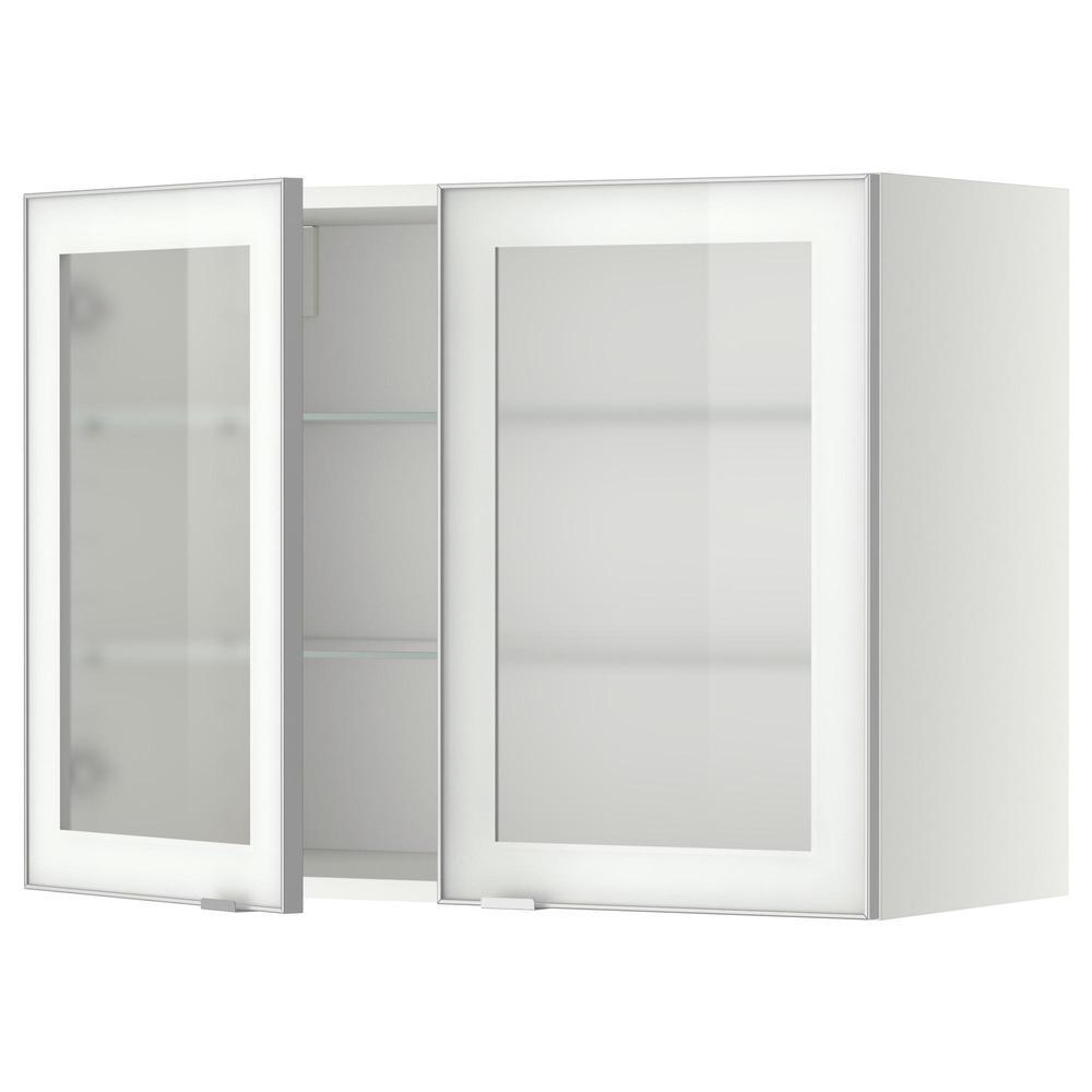 mthode meuble mural avec tagres verre 2 blanc verre givr yutis aluminium