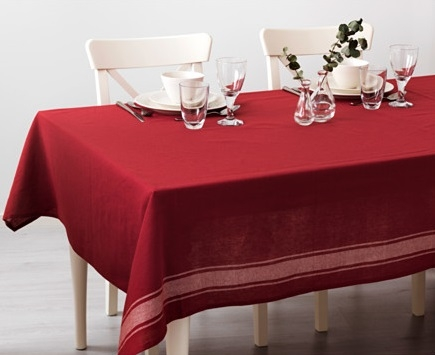 Red tablecloth WINTER 2016
