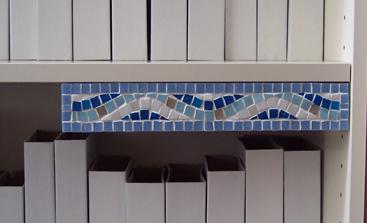 mosaico de la decoración segura