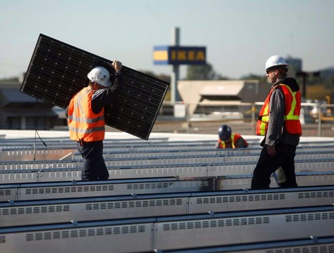 Sonnenkollektoren IKEA