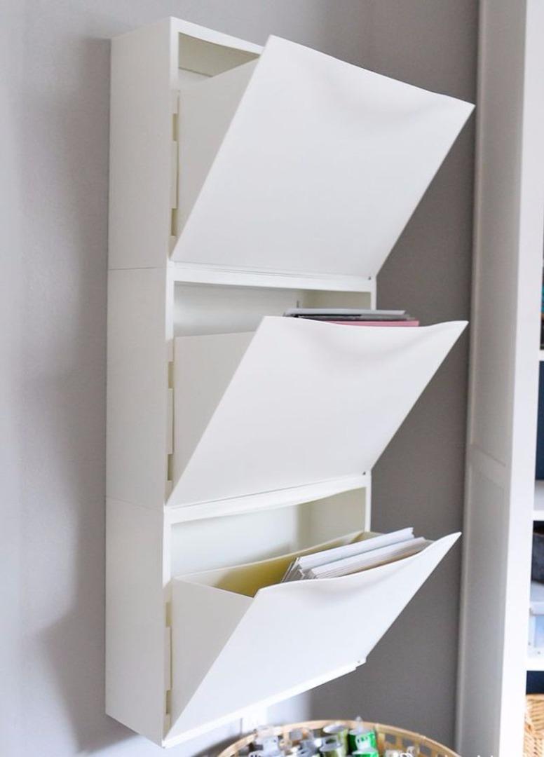 Un'altra idea u00e8 quella di memorizzare i documenti in un armadio di scarpe TRONES