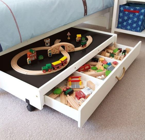 Miniature city under the bed