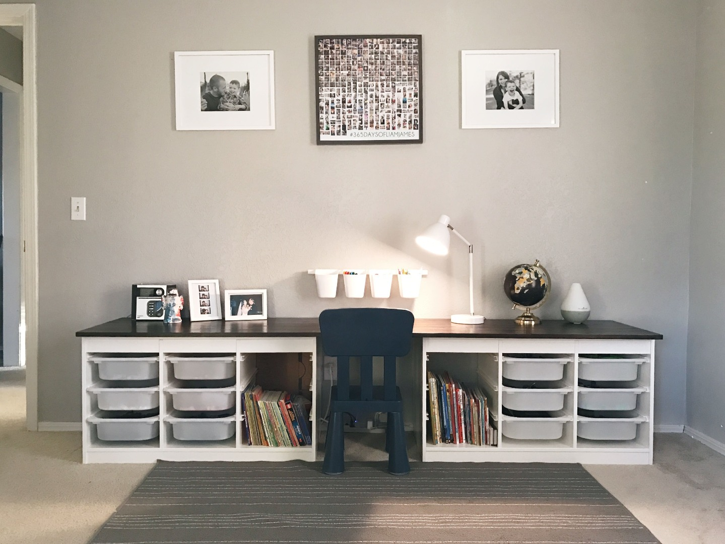 kinderen bureau van ikea trofast. Black Bedroom Furniture Sets. Home Design Ideas